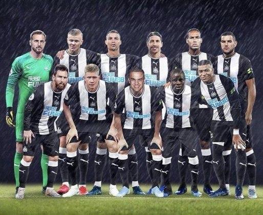 Newcastle, o novo rico do futebol: torcedores projetam reforços de peso para o clube inglês.