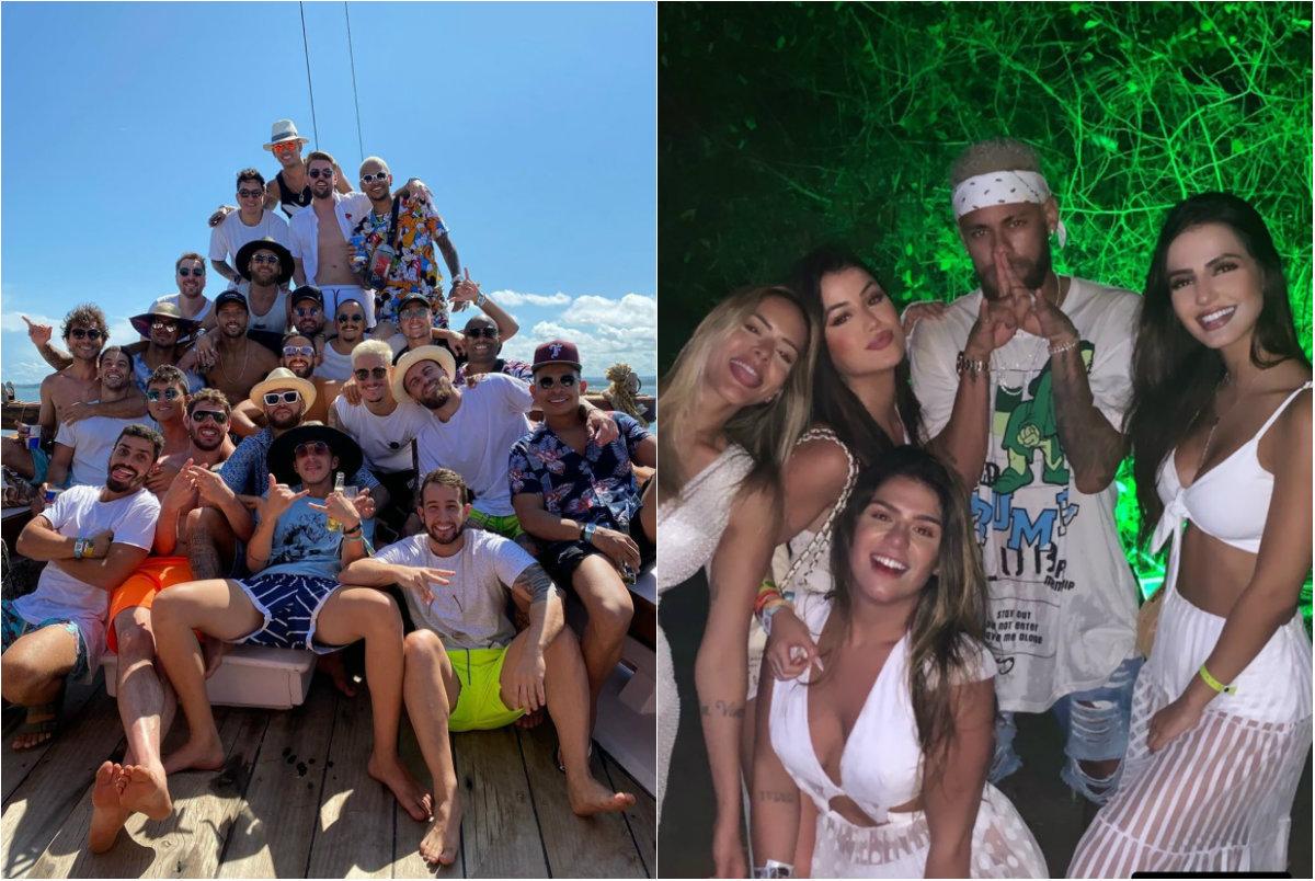 Folga De Neymar Tem Muita Festa Em Quatro Cidades Diferentes
