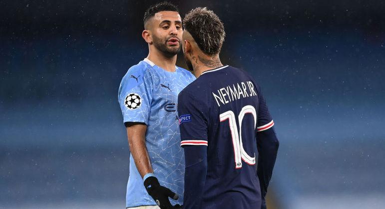 A encarada Mahrez X Neymar