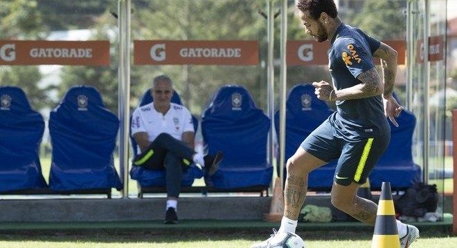 Neymar segue treinando para a Copa América. Com a bênção de Tite