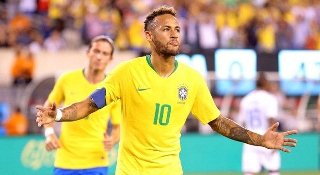 Neymar comemora seu gol de pênalti no amistoso contra os Estados Unidos 5af11a9a82718