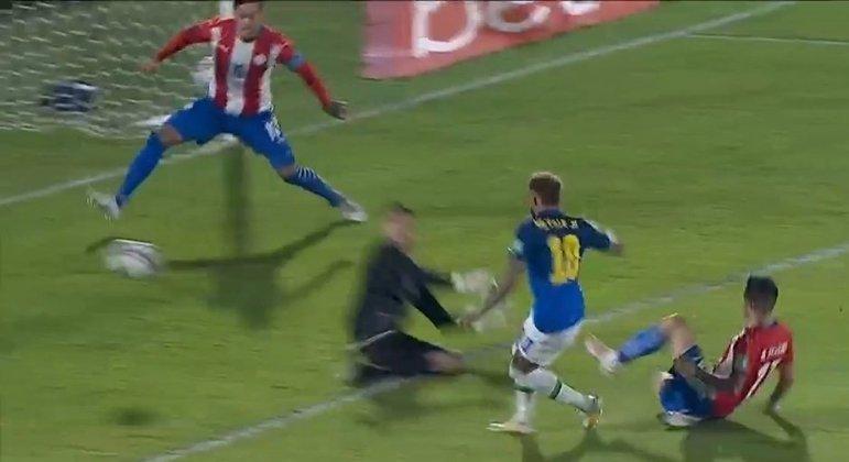 O momento do arremate de Neymar