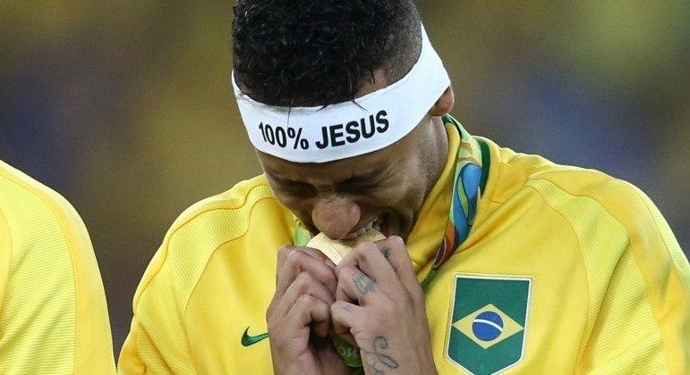 Neymar já 'cumpriu sua obrigação'. Medalha de ouro olímpica em 2016, no Rio de Janeiro