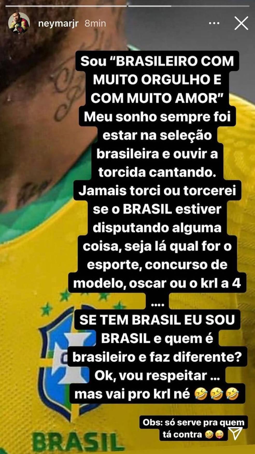 Neymar quis ficar bem com os jogadores da Seleção. Liderança pífia, a base de palavrões