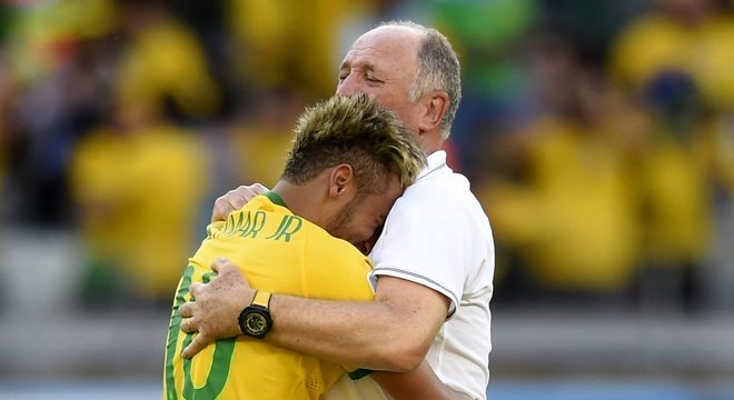 O 'duro' Felipão. Privilégios a Neymar. Como todos os técnicos da Seleção
