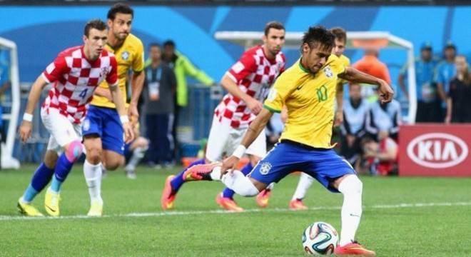 No Brasil/2014, Neymar diante da Croácia