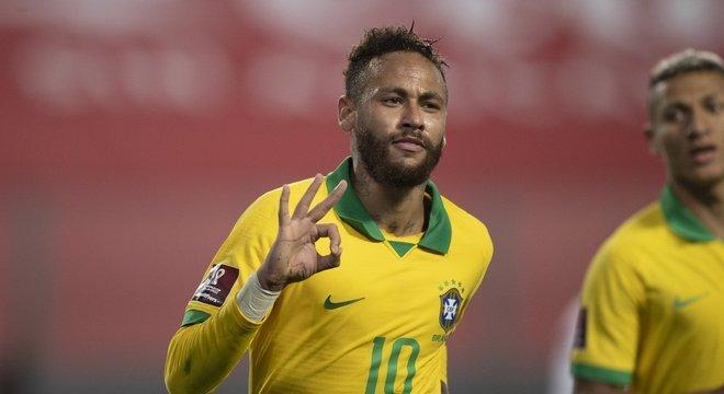 Neymar teve coragem, personalidade, técnica. Três gols. Fez o que quis em Lima