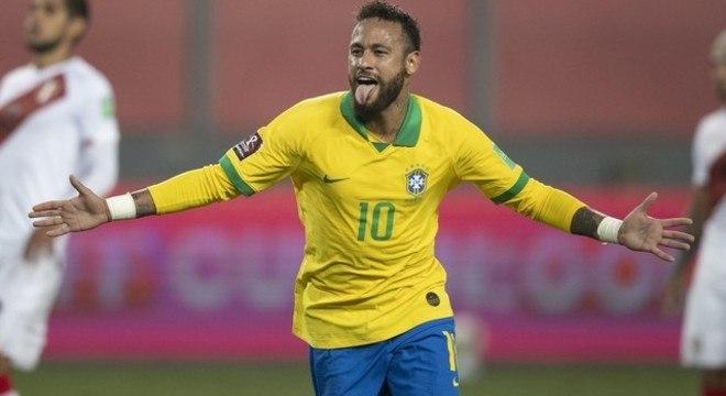 Neymar chegou a 64 gols com a camisa da Seleção. Só Pelé marcou mais. 77 vezes