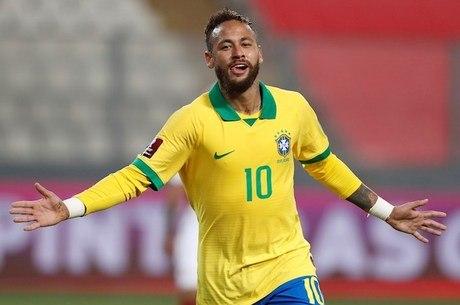 Neymar mostrou dedicação em campo