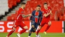 Neymar se destaca na Champions, onde é pouco perseguido