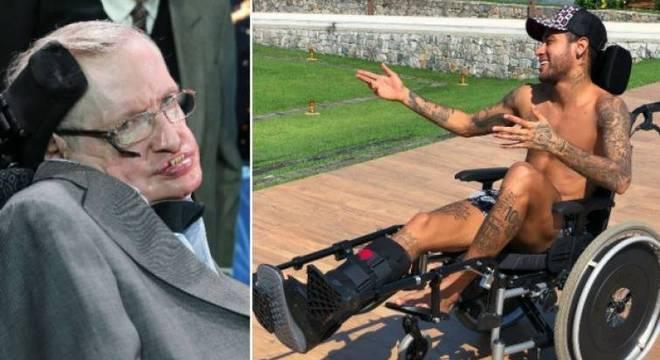 Neymar, dedinho quebrado e sorriso. O sofrimento absurdo de Stephen Hawking