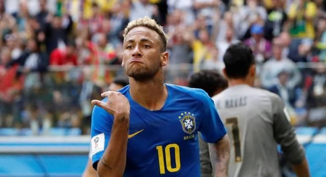 Neymar marcou o segundo gol da seleção brasileira na vitória sobre a Costa Rica