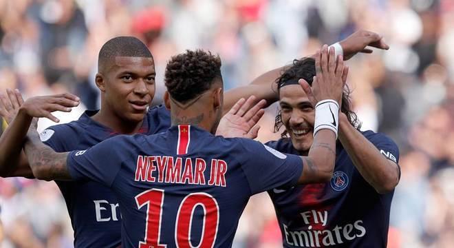 Neymar, Mbappé e Cavani. Desta vez, a responsabilidade não será dividida