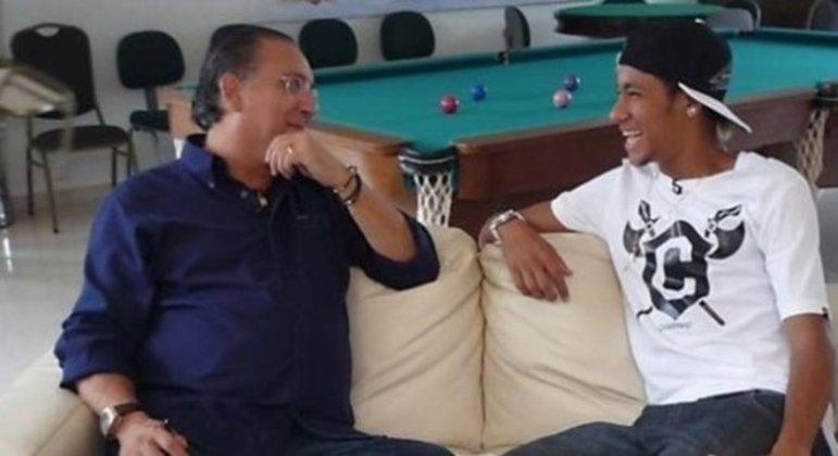 Neymar e Galvão Bueno já foram próximos. Até as críticas na Olimpíada de 2016