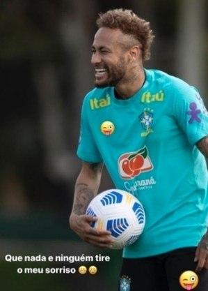 Publicação de Neymar no Instagram