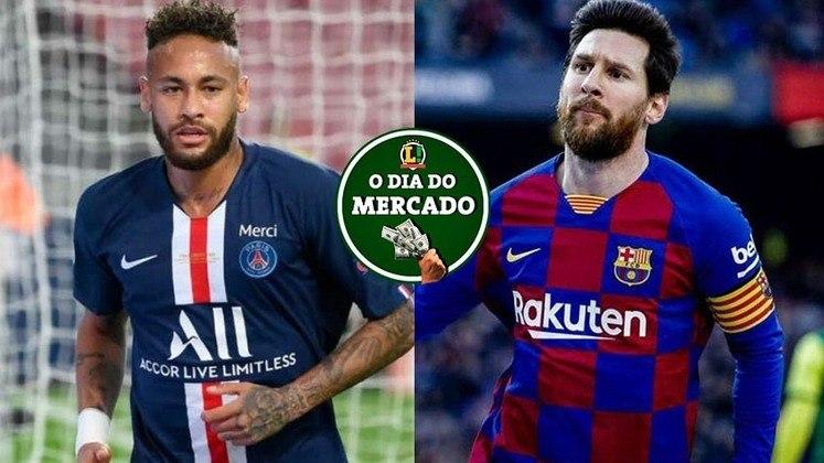 Neymar ainda é o sonho do Barcelona, mas para um dos candidatos à presidência do clube, somente quando seu contrato com o PSG terminar, enquanto Lionel Messi tem mais um interessado em sua contratação, outro clube inglês. Essas e muito mais, no Dia do Mercado do LANCE!