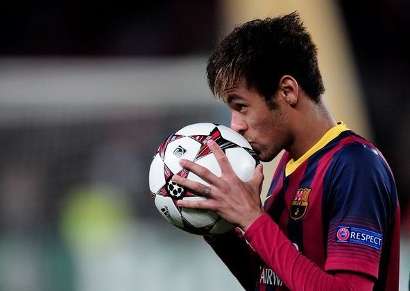 Neymar, atacante; Rafinha Alcântara, meia; Adriano, lateral; Douglas, meia; Daniel Alves, lateral - Barcelona - 2015
