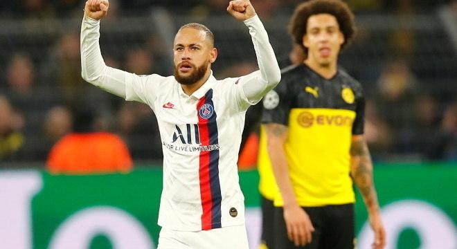 Neymar foi decisivo nas oitavas de final para o PSG contra o Borussia
