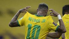 """Mimado, Neymar se elogia após o jogo contra o Peru. """"Gordinho bom de bola"""""""