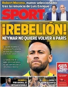 "Neymar também na capa do ""Sport"""