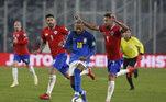 Neymar, Chile x Brasil, Eliminatórias da Copa 2022,