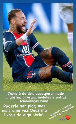 Neymar desabafou no Instagram