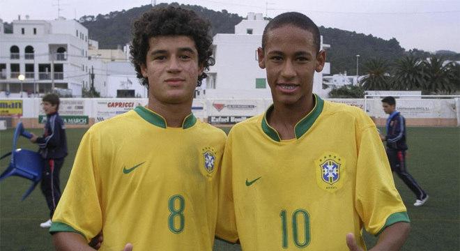 Há dez anos, Neymar fica com o brilho. E Coutinho com a eficiência