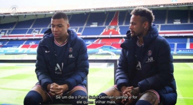 Neymar e Mbappé - PSG