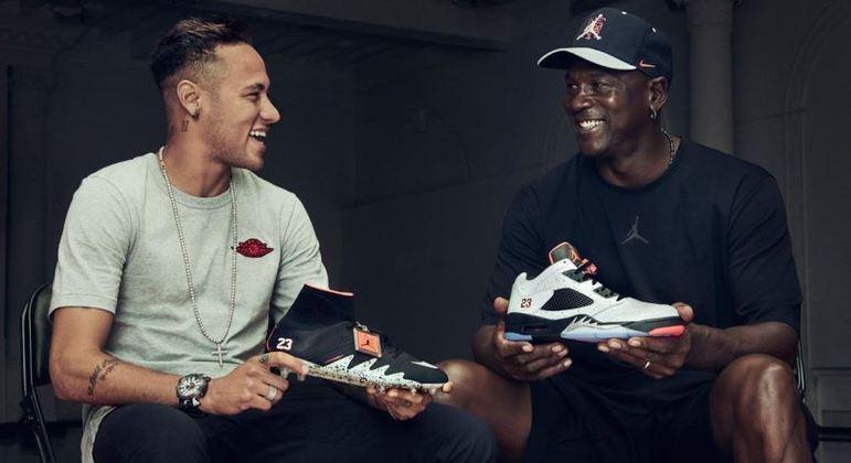 Neymar e Michael Jordan divulgaram tênis juntos, em Nova York