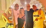 No descanso em Ibiza, Neymar encontrou Mauro Icardi e Kaylor Navas...