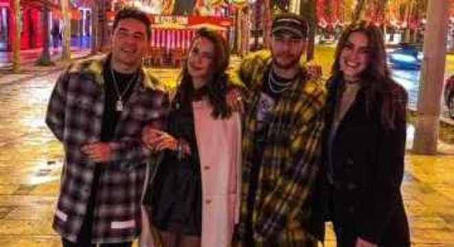 Gil Cebola, Neymar e as amigas Dani e Angela