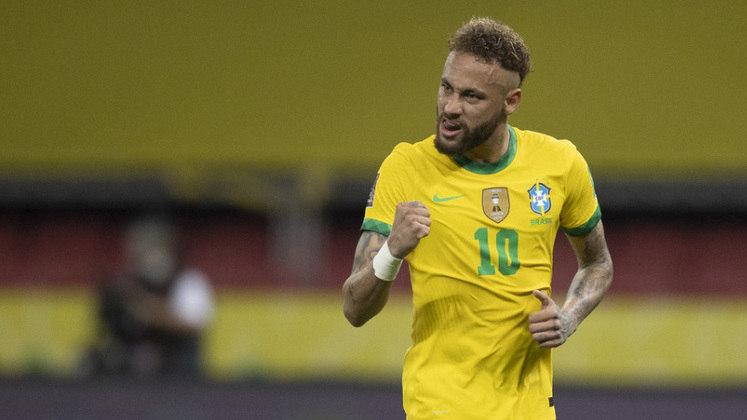 Neymar Jr.: 68 gols em 107 jogos pela seleção do Brasil.