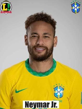 Neymar Jr - 7,0 - Deu a assistência para o gol de Everton Ribeiro e marcou o segundo do Brasil. Driblou, deu passes estratégicos na área e criou oportunidades.