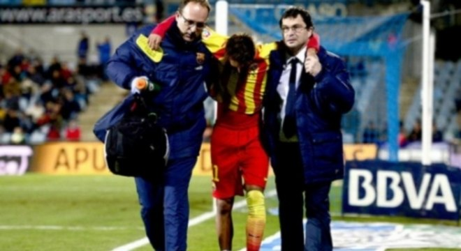 Neymar teve lesão na primeira temporada no Barça
