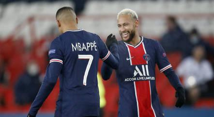 Neymar e Mbappé são as principais estrelas do time