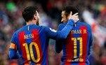 Assim como Careca e Maradona, Neymar e Messi pareciam destinados a jogar juntos. A dupla criou uma sintonia quase que telepática, prevendo movimentos um do outro, distribuindo gols e assistências, e tocando o terror nas defesas adversáriasVEJA TAMBÉM:Sem casa em Paris, Messi vai morar em hotel com diária de R$ 95 mil