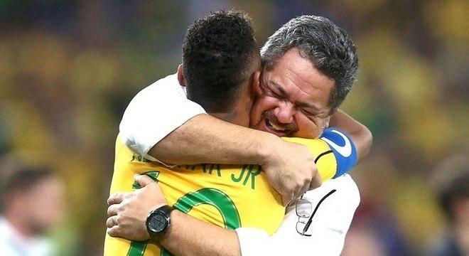 Neymar e Micale, no Rio/2016