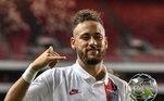 6 - Números - Em termos de estatísticas, esta temporada caminha para ser a melhor de Neymar na Europa. Com 19 gols em 25 jogos, ele já conquistou três títulos entre 2019 e 2020: Campeonato Francês; Copa da Liga Francesa e Copa da França