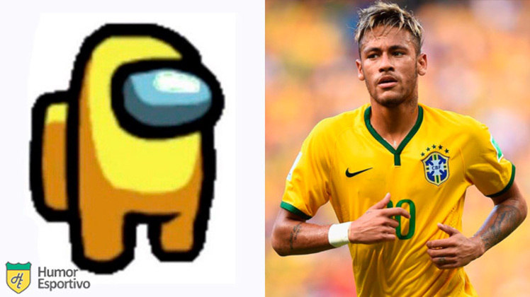 Neymar no Among US: tripulante amarelo
