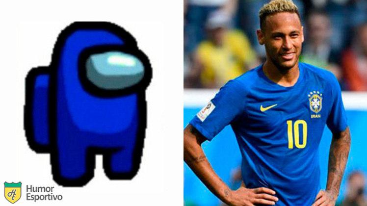 Neymar no Among US: tripulante azul