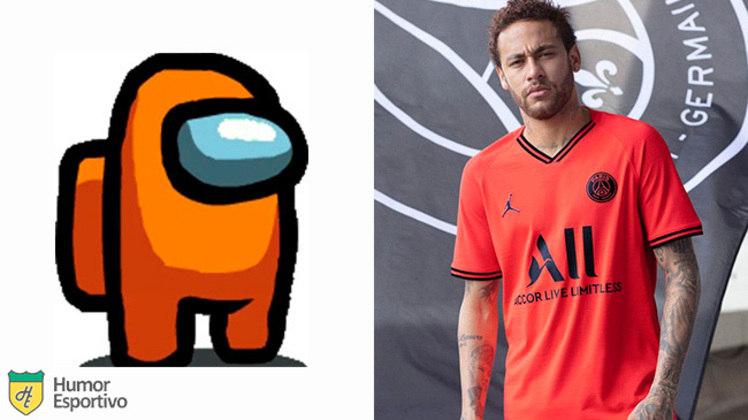 Neymar no Among US: tripulante laranja