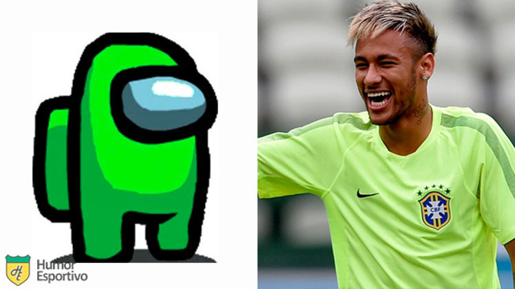 Neymar no Among US: tripulante limão