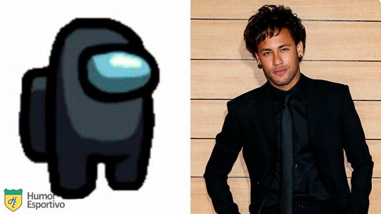 Neymar no Among US: tripulante preto