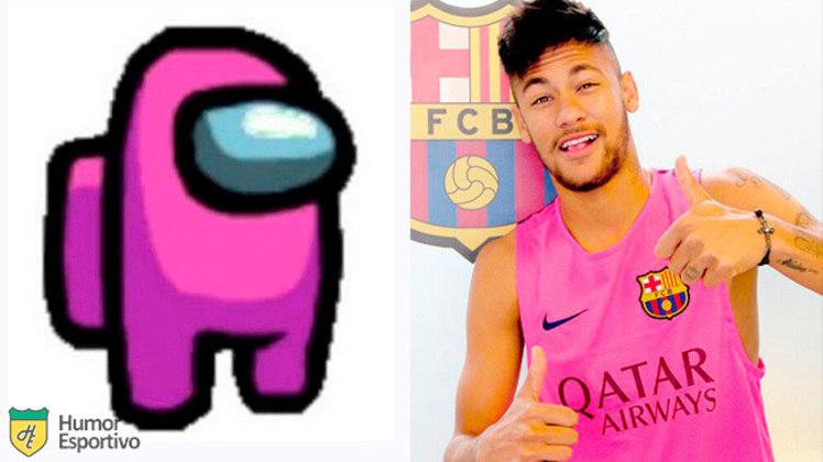 Neymar no Among US: tripulante rosa