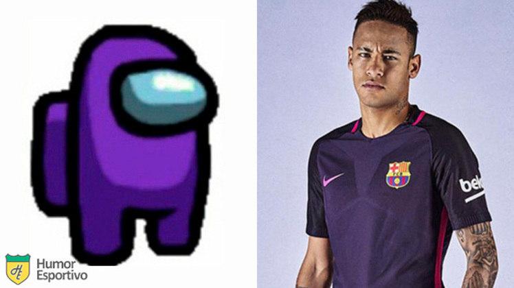 Neymar no Among US: tripulante roxo