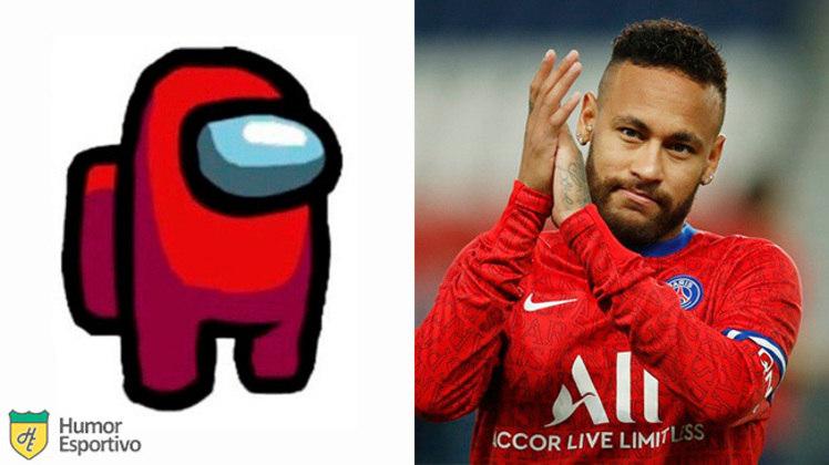 Neymar no Among US: tripulante vermelho