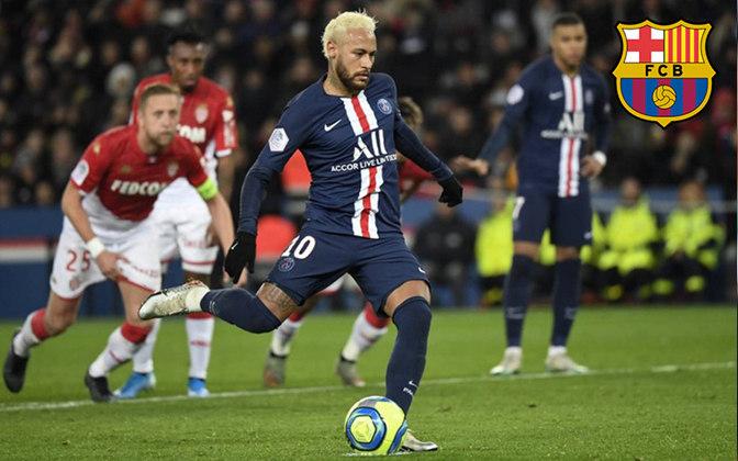 Neymar. Posição: Atacante. Idade: 28 anos. Clube atual: Paris Saint-Germain. Clube interessado: Barcelona.