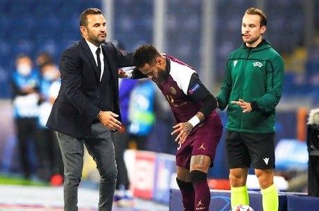 Neymar se contundiu em jogo da Champions