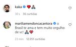 Famosos apoiam Neymar em publicação nas redes sociais