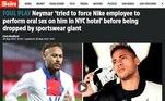 Na Inglaterra, a acusação de assédio sexual contra Neymar também repercute